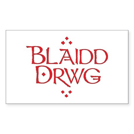 blaidd drwg Sticker (Rectangle)