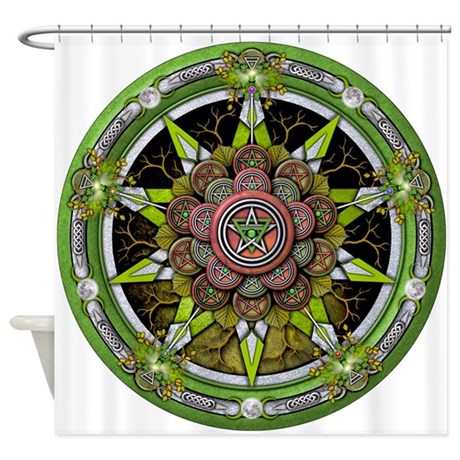 Elemental Pentacle - Earth Shower Curtain