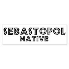Sebastopol Native Bumper Bumper Sticker