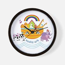 Noah's Ark Animal Wall Clock