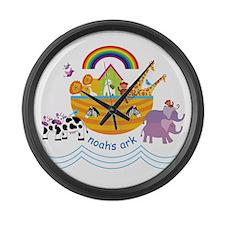 Noahs Ark Animals Large Wall Clock