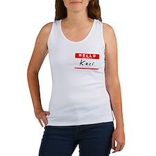 Kaci, Name Tag Sticker Women's Tank Top