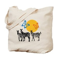 Butterflies and Zebras Tote Bag