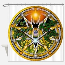 Sabbat Pentacles - Litha.png Shower Curtain