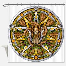 Lammas/Lughnasadh Pentacle Shower Curtain