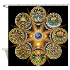Witches Wheel of the Year Shower Curtain