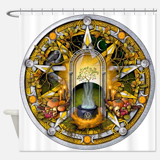 Samhain Pentacle Shower Curtain
