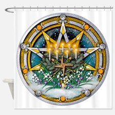 Imbolc Pentacle Shower Curtain