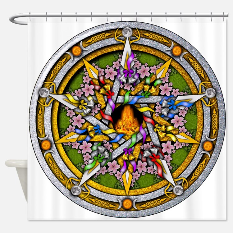 Beltane Pentacle Shower Curtain