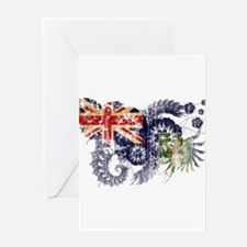 British Virgin Islands Flag Greeting Card