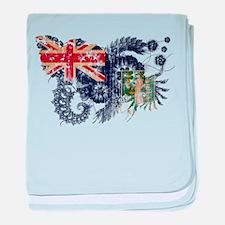 British Virgin Islands Flag baby blanket