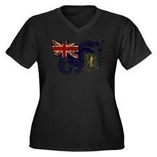 British Virgin Islands Flag Women's Plus Size V-Ne