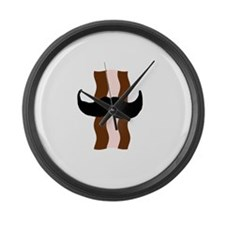 Moustache Bacon Large Wall Clock
