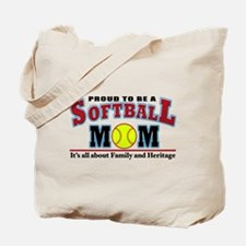 softball mom(white).png Tote Bag