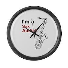 Im a Sax Addict Large Wall Clock