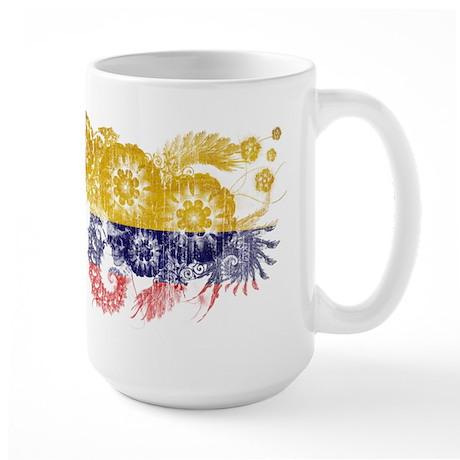 Colombia Flag Large Mug