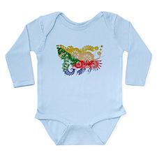 Comoros Flag Long Sleeve Infant Bodysuit