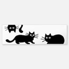 Black Cats Bumper Stickers