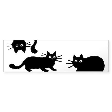 Black Cats Sticker (Bumper)