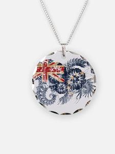 Cook Islands Flag Necklace