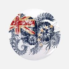 "Cook Islands Flag 3.5"" Button"