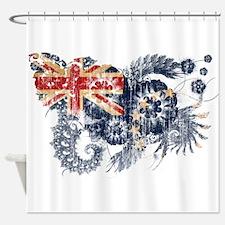 Cook Islands Flag Shower Curtain
