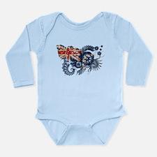 Cook Islands Flag Long Sleeve Infant Bodysuit