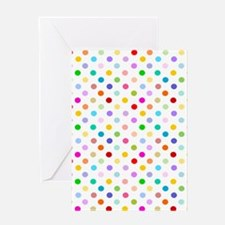 Rainbow Polka Dots Greeting Card