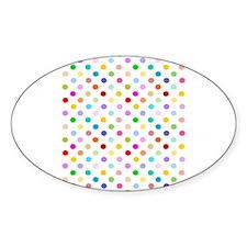 Rainbow Polka Dots Decal