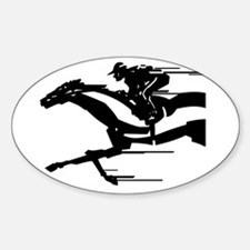 horse racing Sticker (Oval)