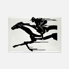 horse racing Rectangle Magnet