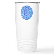 spiritual meditation mandala (aqua) Travel Mug