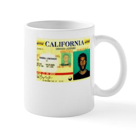 California Drivers License Mug