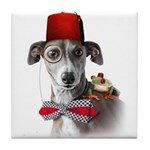 Adventure Italian Greyhound Tile Coaster