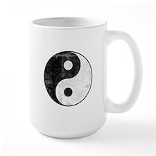 Distressed Yin Yang Symbol Mug