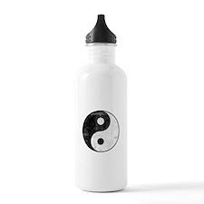 Distressed Yin Yang Symbol Water Bottle