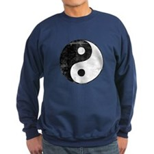 Distressed Yin Yang Symbol Sweatshirt