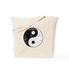 Distressed Yin Yang Symbol Tote Bag