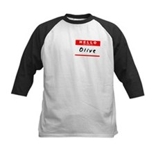 Olive, Name Tag Sticker Tee