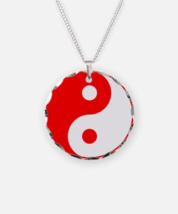 Red Yin Yang Necklace
