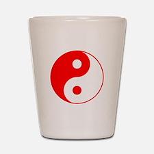 Red Yin Yang Shot Glass