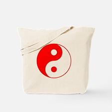Red Yin Yang Tote Bag