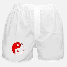 Red Yin Yang Boxer Shorts