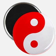 Red Yin Yang Magnet