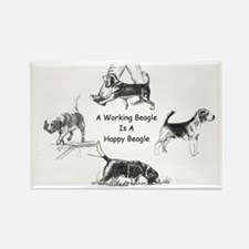 Working Beagle Rectangle Magnet