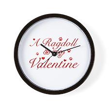 A Ragdoll is my valentine Wall Clock