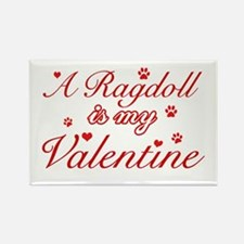 A Ragdoll is my valentine Rectangle Magnet