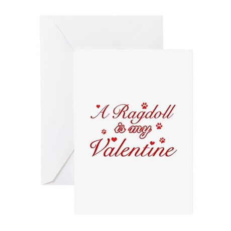 A Ragdoll is my valentine Greeting Cards (Pk of 20