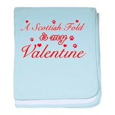 A Scottish Fold is my valentine baby blanket
