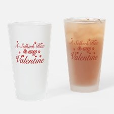 A Selkirk Rex is my valentine Drinking Glass